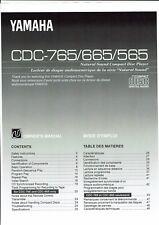 Yamaha  Bedienungsanleitung user manual owners manual  für CDC 565/665/765