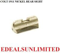COLT NICKEL REAR SIGHT Series 70 80 , TROPHY , NATIONAL MATCH , GOLD CUP RARE