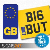 GB NUMBER PLATE STICKER For Motorcycles / Motorbikes EU European Vinyl Sticker