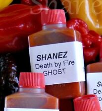 Ghost 'Death By Fire' Lunch Bottles 10x15ml Shanez  Hot Sauce