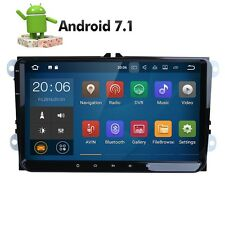 For VW 9 inch HeadUnit Android 7.1 2GB RAM GPS Navi Car Stereo Radio Bluetooth