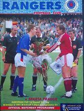 Rangers v Sparta Prague 2/10/1991 European Cup Final 1st Round 2nd Leg