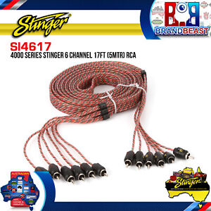 Stinger SI4617 5m 4000 Series 6 Channel RCA Interconnects