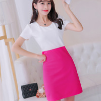 Women Slim Short Mini Dress Casual Short Sleeve Evening Party Dress New Skirts