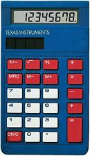 Texas Instruments Blue Basic Calculator with Cover Small for Pocket or Purse