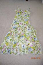 Beautiful Per Una cream/yellow/multi coloured floral dress, 12L, never worn