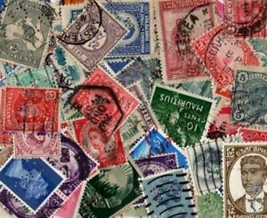 90 World perfin stamps including some modern GB (See scan)