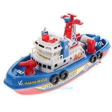 Electric Boat Non-remote Warship Baby Kids Boy Children LED Light Music Toy Gift