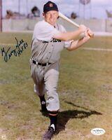 George Kell Signed Autographed 8X10 Photo Detroit Tigers Swinging Bat JSA
