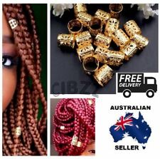 10x Dreadlocks Hair Cuff Clips Bead Style Ring Adjustable Gold Accessory 10mm