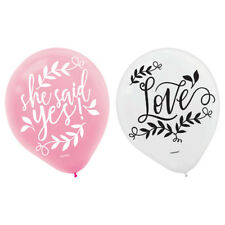 Wedding And Bridal Love and Leaves Latex Balloons (15) ~ Party Supplies Helium