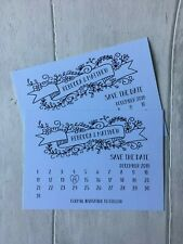 x20 Save the Date Wedding Cards, Personalised a6, white card