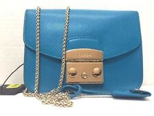 NWT Furla Metropolis Mini Leather Cross Body Bag Turchese Blue $328