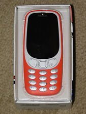 UNLOCKED NOKIA 3310 3G CELL PHONE - WARM RED (New - Open Box)