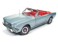 1:18 Autoworld AMM1103 1965 Ford Mustang Convertible Silver Smoke Grey Neu & OVP