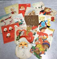 Lot/16 Vintage 1940/1950/1960s Greeting Cards Valentine Christmas Fathers Day