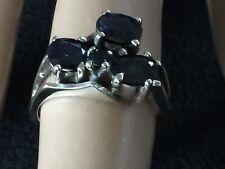 Unique 1.5CT Natural Australian Sapphire & Sterling Silver Ring, 1980 Vintage