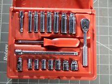 Mac 19pc Sae 14 Dr Socket Service Set Ratchet Shallow Deep 14 12 6pt Nice