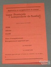 1938 Quebec Baseball Signed Contract by Howard Bostrom