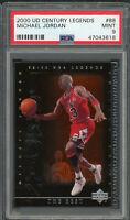 Michael Jordan Bulls 2000 Upper Deck Century Legends Basketball Card #88 PSA 9
