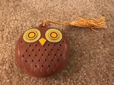 Vintage Estate Avon Wise Eyes OWL Closet Pomander - Brown Freshener Hanger