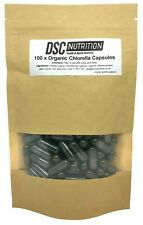 100 x 550mg Organic Chlorella Capsules - LETTERBOX SIZE PACK - By DSC Nutrition