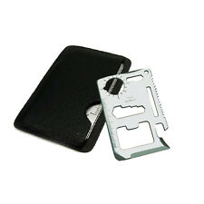 Stainless Steel Credit Card Rescue 11 in 1 Multi Pocket Survival Camping Tools