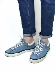 LOUIS VUITTON men's blue denim damier sneakers | Size 7/US 8.5 (27 cm/10.6 in)