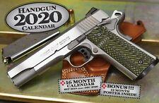 2020 HANDGUN DELUXE WALL CALENDAR glock 9mm pistol gun