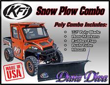 "KFI 72"" Poly Snow Plow Blade Mount Combo Kit: John Deere Gator XUV 550 560 590i"