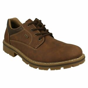 RIEKER TEX 14020 MENS LACE UP COMFORT CASUAL WATER RESISTANT DERBY SHOES SIZE