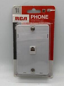 NIP RCA TP251WHR White Telephone Phone Wall Mount Modular Jack