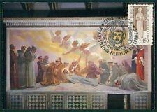 ITALY MK 1976 SAINT ST. FRANCIS OF ASSISI CARTE MAXIMUM CARD MC CM RARE!! dy28