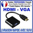 HDMI VGA ADAPTATEUR VIDEO CONVERTISSEUR 1080P HDMI MALE VERS VGA FEMELLE