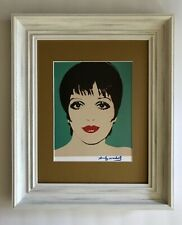 ANDY WARHOL ORIGINAL 1984 SIGNED LIZA MINELLI PRINT MATTED 11X14 + BUY IT NOW!