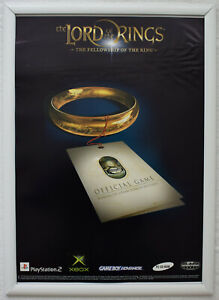 Lord Of The Rings Fellowship Of The Ring RARE PS2 XBOX 42cm x 55cm Promo Poster