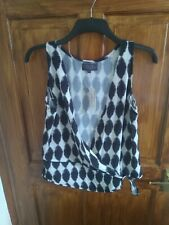 Little Miss Captain Top size medium black and white