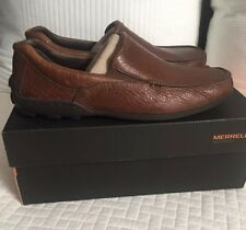Merrell Mens Rally Moc J38507 Leather Driving Loafer Brown 9.5