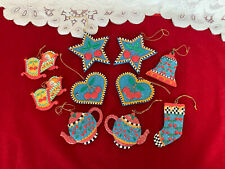 Mary Engelbreit Resin Ornaments Stars Hearts Bell Teapots 10 Piece Set