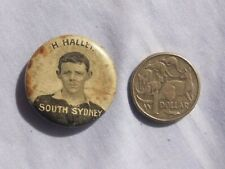 1920's H Hallet South Sydney Rugby League Football badge. NRL, NSW, Kangaroos.