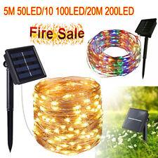 50-200 LED Lámpara de Cadena de Energía Solar Hada Luz Fiesta De Navidad Deco De Jardín Al Aire Libre