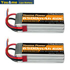 2pcs 6S 6500mAh 22.2V LiPo Battery Deans for RC Helicopter Airplane Car Truck