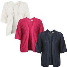 Acrylic V Neck 3/4 Sleeve Cardigans for Women
