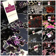 "Lightweight Floral Velvet chiffon burnout Devore dress Fabric 50"" Wide Mtex"