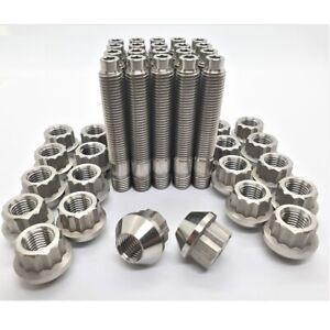 77mm 12x1.5 Titanium Stud Conversion Kit 12 point nuts and studs 20 pcs RENAULT
