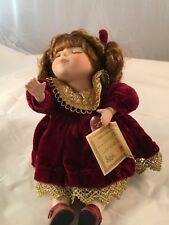 "Collectors Choice Doll Named ""Mariela"" sitting doll Made by Master Doll Designer"