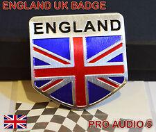 Angleterre Union Jack GB bouclier badge en aluminium brossé Universel Voiture Fourgon UK