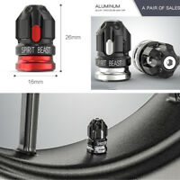 Schwarz +Grau CNC Motorrad Styling Bullet Shaped Reifen Air Düsenkappe Abdeckung