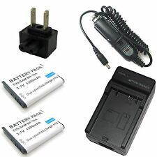 Charger + 2x Battery for Samsung AQ100 DV100 ES65 ES67 ES70 ES71 ES73 ES74 ES75