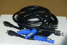 Set of 4 - Geniune Neutrik PowerCon Cable - 5 feet -14 gauge